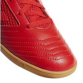Buty halowe adidas Predator 19.4 In Sala Jr CM8552 czerwone wielokolorowe 4