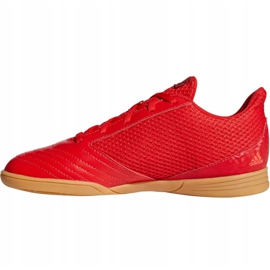 Buty halowe adidas Predator 19.4 In Sala Jr CM8552 czerwone wielokolorowe 5