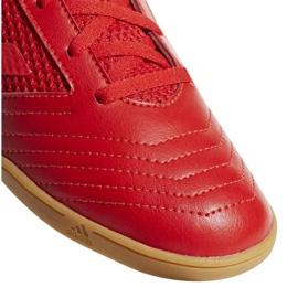 Buty halowe adidas Predator 19.4 In Sala Jr CM8552 czerwone wielokolorowe 7