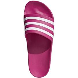 Klapki adidas Adilette Aqua F35536 czerwone wielokolorowe 1