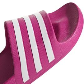 Klapki adidas Adilette Aqua F35536 czerwone wielokolorowe 5