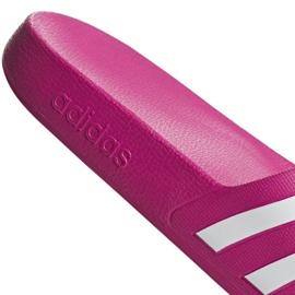 Klapki adidas Adilette Aqua F35536 czerwone wielokolorowe 7