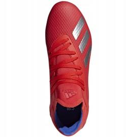 Buty piłkarskie adidas X 18.3 Fg Jr BB9371 czerwone wielokolorowe 1