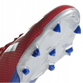 Buty piłkarskie adidas X 18.3 Fg Jr BB9371 czerwone wielokolorowe 5