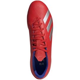 Buty piłkarskie adidas X 18.4 Fg M BB9376 czerwone wielokolorowe 1