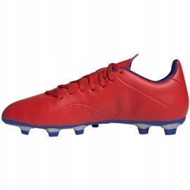 Buty piłkarskie adidas X 18.4 Fg M BB9376 czerwone wielokolorowe 2