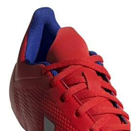 Buty piłkarskie adidas X 18.4 Fg M BB9376 czerwone wielokolorowe 4