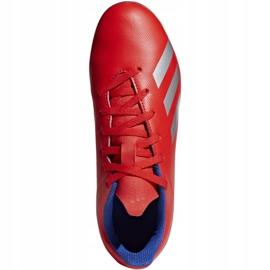 Buty piłkarskie adidas X 18.4 FxG Jr BB9379 czerwone wielokolorowe 1