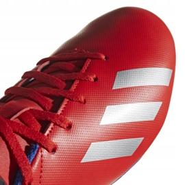 Buty piłkarskie adidas X 18.4 FxG Jr BB9379 czerwone wielokolorowe 3