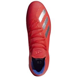 Buty halowe adidas X 18.3 In M BB9392 czerwone biały, czerwony 1
