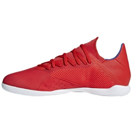 Buty halowe adidas X 18.3 In M BB9392 czerwone biały, czerwony 2