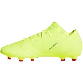 Buty piłkarskie adidas Nemeziz 18.2 Fg M BB9431 żółte żółte 1