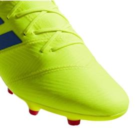 Buty piłkarskie adidas Nemeziz 18.2 Fg M BB9431 żółte żółte 4