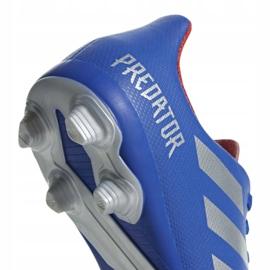 Buty piłkarskie adidas Predator 19.4 FxG Jr CM8540 niebieskie wielokolorowe 4