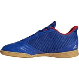 Buty halowe adidas Predator 19.4 In Sala Jr CM8551 niebieskie niebieski 1