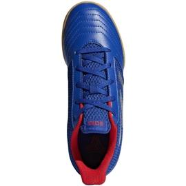 Buty halowe adidas Predator 19.4 In Sala Jr CM8551 niebieskie niebieski 2