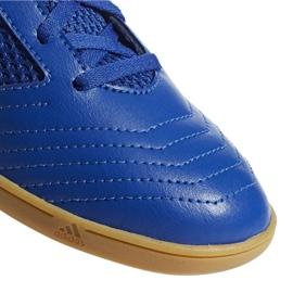 Buty halowe adidas Predator 19.4 In Sala Jr CM8551 niebieskie niebieski 4