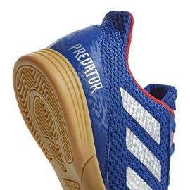 Buty halowe adidas Predator 19.4 In Sala Jr CM8551 niebieskie niebieski 5