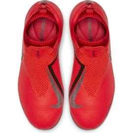 Buty piłkarskie Nike Phantom Vsn Elite Df Mg Jr AO3289-600 czerwone wielokolorowe 1