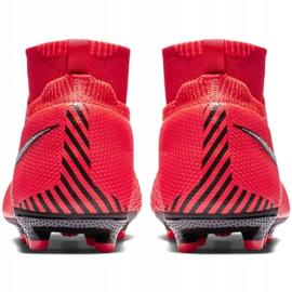 Buty piłkarskie Nike Phantom Vsn Elite Df Mg Jr AO3289-600 czerwone wielokolorowe 4