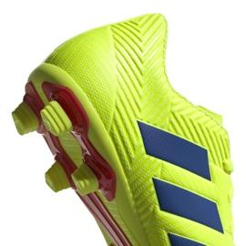 Buty piłkarskie adidas Nemeziz 18.4 FxG M BB9440 żółte żółte 4