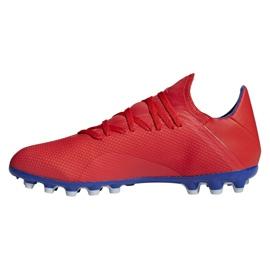 Buty piłkarskie adidas X 18.3 Ag M BC0299 czerwone wielokolorowe 1
