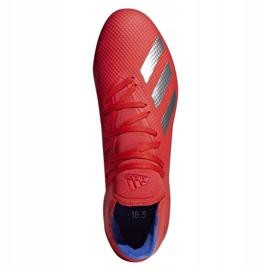 Buty piłkarskie adidas X 18.3 Ag M BC0299 czerwone wielokolorowe 2