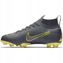 Buty piłkarskie Nike Mercurial Superfly 6 Elite Fg Jr AH7340-070 czarne szare 2