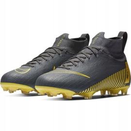 Buty piłkarskie Nike Mercurial Superfly 6 Elite Fg Jr AH7340-070 czarne szare 3