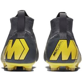 Buty piłkarskie Nike Mercurial Superfly 6 Elite Fg Jr AH7340-070 czarne szare 4