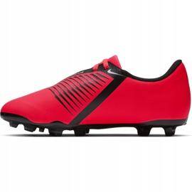 Buty piłkarskie Nike Phantom Venom Club Fg Jr AO0396-600 czerwone wielokolorowe 7