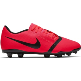 Buty piłkarskie Nike Phantom Venom Club Fg Jr AO0396-600 czerwone wielokolorowe 8