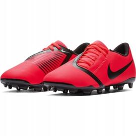 Buty piłkarskie Nike Phantom Venom Club Fg Jr AO0396-600 czerwone wielokolorowe 11