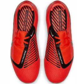 Buty piłkarskie Nike Phantom Venom Elite Fg Jr AO0401-600 czerwone wielokolorowe 2