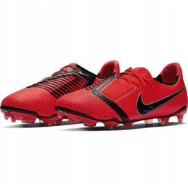 Buty piłkarskie Nike Phantom Venom Elite Fg Jr AO0401-600 czerwone wielokolorowe 5