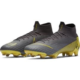 Buty piłkarskie Nike Mercurial Superfly 6 Elite Fg M AH7365-070 szare czarne 5