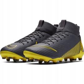 Buty piłkarskie Nike Mercurial Superfly 6 Academy Mg Jr AH7337-070 szare wielokolorowe 3