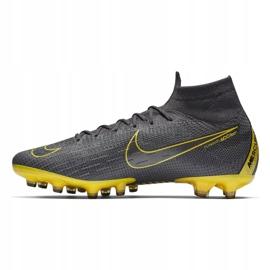 Buty piłkarskie Nike Mercurial Superfly 6 Elite Ag Pro M AH7377-070 czarne szare 1