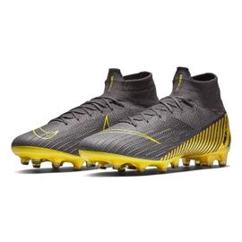 Buty piłkarskie Nike Mercurial Superfly 6 Elite Ag Pro M AH7377-070 czarne szare 3