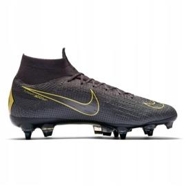 Buty piłkarskie Nike Mercurial Superfly 6 Elite SG-Pro M AH7366-070 czarne wielokolorowe 1