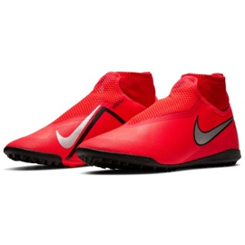 Buty piłkarskie Nike React Phantom Vsn Pro Df Tf M AO3277-600 czerwony czerwone 3