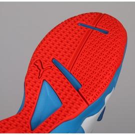 Buty halowe Puma Tenaz V Jr Bleu Azur 104891 06 niebieskie niebieski 2