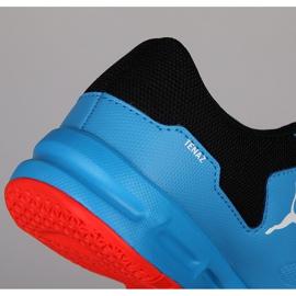 Buty halowe Puma Tenaz V Jr Bleu Azur 104891 06 niebieskie niebieski 3