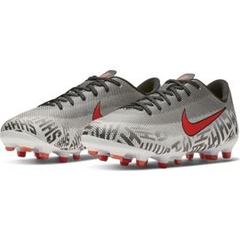 Buty piłkarskie Nike Mercurial Vapor 12 Academy Neymar FG/MG Jr AO2896-170 białe białe 3