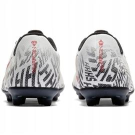Buty piłkarskie Mercurial Nike Neymar Vapor 12 Club Fg Jr AV4762-170 białe wielokolorowe 4