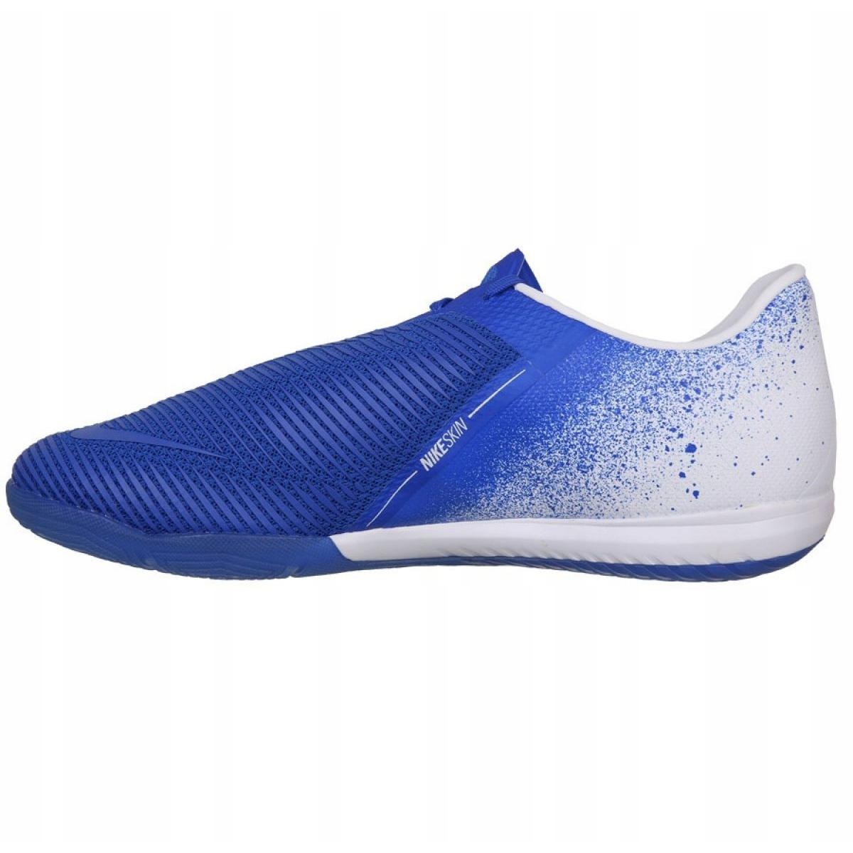 Buty halowe Nike Zoom Phantom Venom Pro Ic M BQ7496 104 biały, niebieski niebieskie