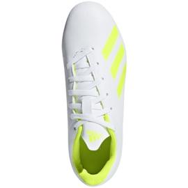 Buty piłkarskie adidas X 18.4 FxG Jr BB9380 białe wielokolorowe 1