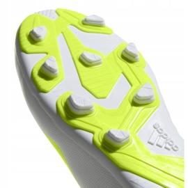 Buty piłkarskie adidas X 18.4 FxG Jr BB9380 białe wielokolorowe 3