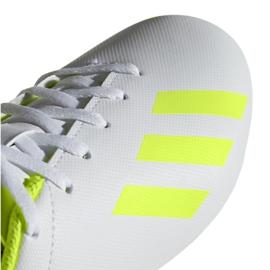 Buty piłkarskie adidas X 18.4 FxG Jr BB9380 białe wielokolorowe 4