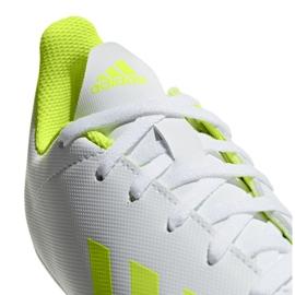 Buty piłkarskie adidas X 18.4 FxG Jr BB9380 białe wielokolorowe 5